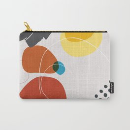 Shape & Hue Series No. 2 – Yellow, Orange & Blue Modern Abstract Carry-All Pouch