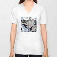 lichtenstein V-neck T-shirts featuring Lichtenstein-style Korra by Steph Arts