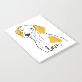 Dog Modern Line Art Notebook