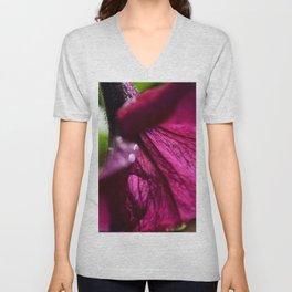 mauve flower Unisex V-Neck
