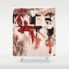 Kyle Graffiti Shower Curtain