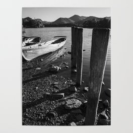 rowing boats on derwentwater Poster