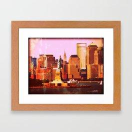 Warm NYC Framed Art Print