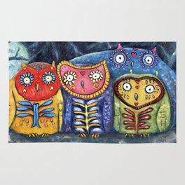 Dia de Muertos Owl Party Rug