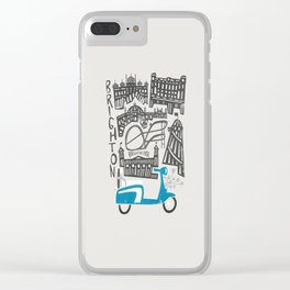 Brighton Cityscape Clear iPhone Case