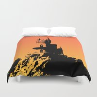 castle Duvet Covers featuring Castle by Julia Badeeva