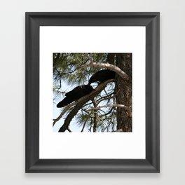 Crows in Love Framed Art Print
