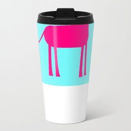 Pink Giraffe Metal Travel Mug