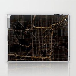 Black and gold Indianapolis map Laptop & iPad Skin