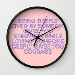 being deeply loved Wall Clock