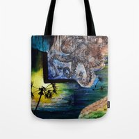 literary Tote Bags featuring Literary Octopus by Sarah Sutherland
