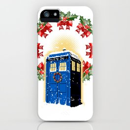 A WARM AND CONFORTABLE TARDIS I N THE SNOWSTORM iPhone Case