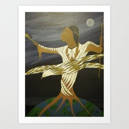PEACE AND THE UNIVERS Art Print