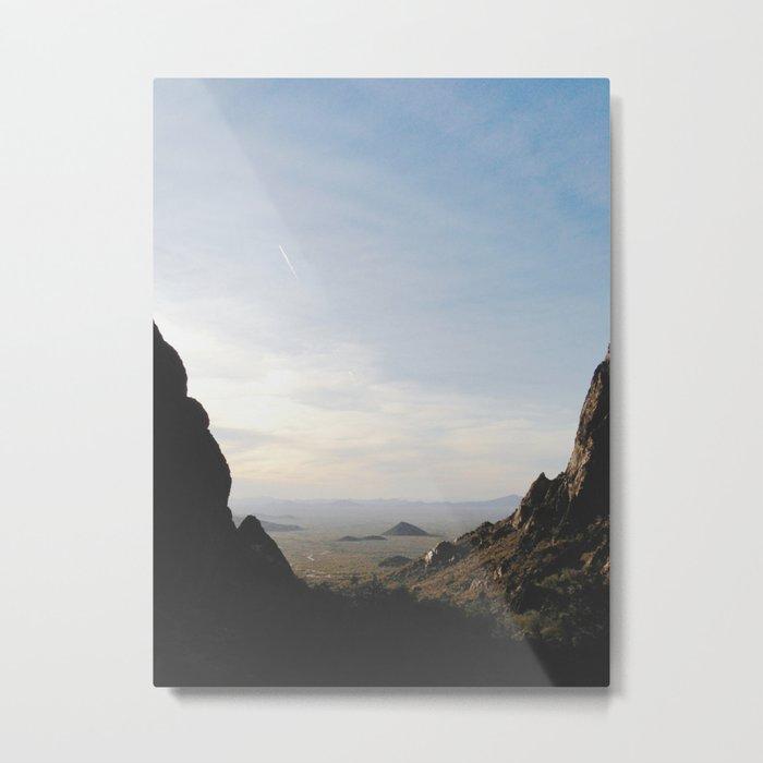 Palm Sunset Canyon Metal Print