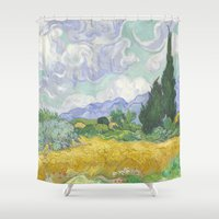 van gogh Shower Curtains featuring Van Gogh by Palazzo Art Gallery
