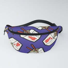 Take-Out Noodles Box Pattern Fanny Pack