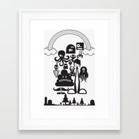 monster inc Framed Art Prints featuring Monster Collection Inc  by Dei Hendrick