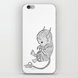 Little Devil (white version) iPhone Skin