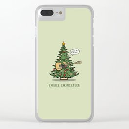 Spruce Springsteen Clear iPhone Case