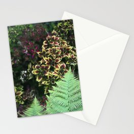 Painted Nettles and Ferns Stationery Cards