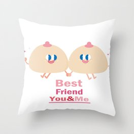 best friend-you and me Throw Pillow