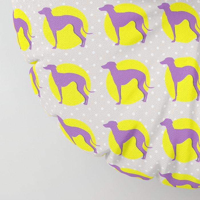 Italian Greyhound - Pattern One Floor Pillow