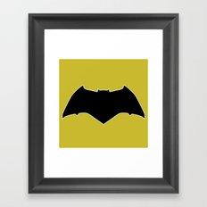 Dawn of Justice : Bat Symbol Framed Art Print