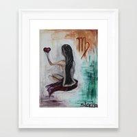virgo Framed Art Prints featuring Virgo by sladja