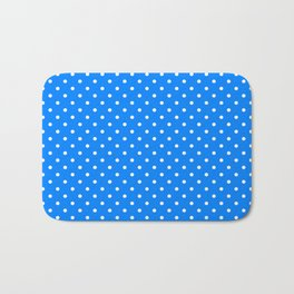 Dots (White/Azure) Bath Mat