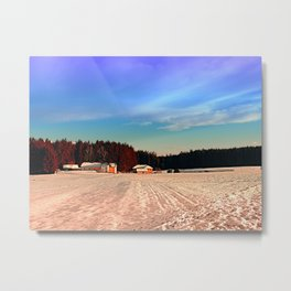 Amazing vivid winter wonderland | landscape photography Metal Print