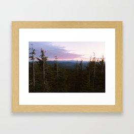 Mount Hood Sunset Framed Art Print