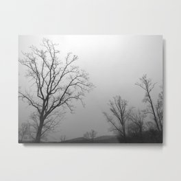 Tree of Ice Metal Print