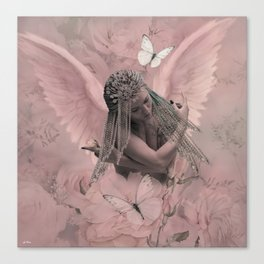THE SENSUALLY SHY ANGEL Canvas Print