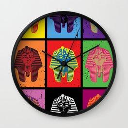 King Tut Warhol Wall Clock