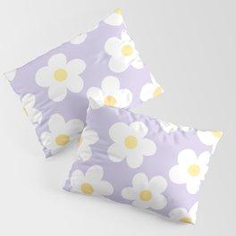 Lavender 70's Retro Flower Power Pillow Sham