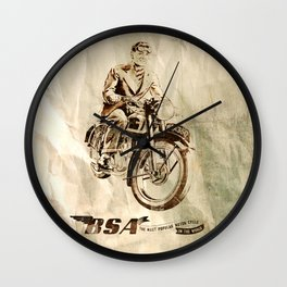 BSA - Vintage Poster Wall Clock