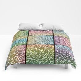 Pastel Rainbow Chrome Tiles Comforters