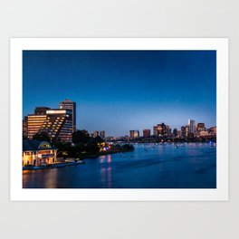 skyline of Boston Art Print