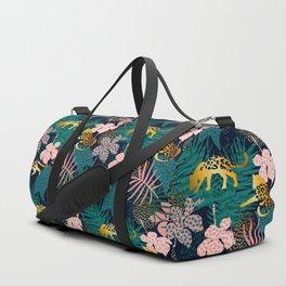 GOLD LEOPARD JUNGLE PATTERN Duffle Bag