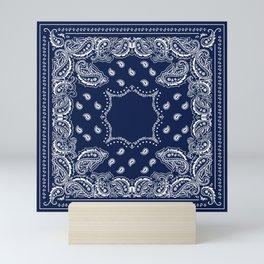 Bandana - Navy Blue - Boho Mini Art Print