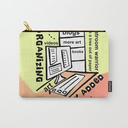 Organizing - Zine Page Carry-All Pouch