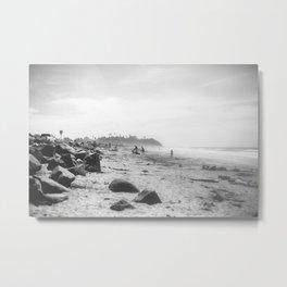 Cardiff State Beach Metal Print