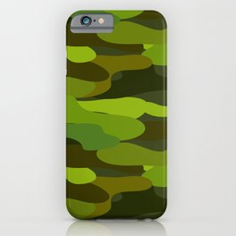 Camo-licious Collection: Wild Jungle Green Camouflage Pattern iPhone Case