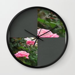 Pink Roses in Anzures 5  Blank Q6F0 Wall Clock
