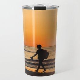 Sunset over Adriatic Sea Travel Mug
