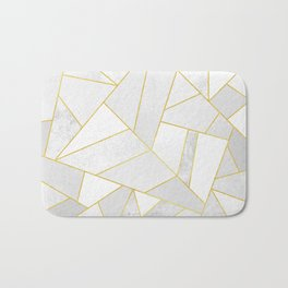 White Stone Bath Mat