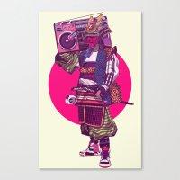 samurai Canvas Prints featuring Hip-Hop Samurai by Mike Wrobel