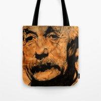 einstein Tote Bags featuring EINSTEIN by DeMoose_Art