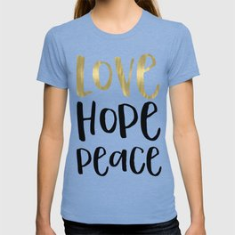Inspirational Words Black and Gold T-shirt