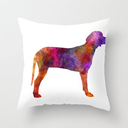 Serbian Hound in watercolor 2 Throw Pillow